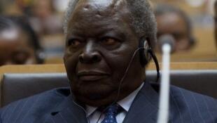 Current Kenyan president Mwai Kibaki