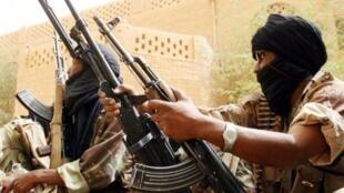 Des soldats de l'armée malienne.