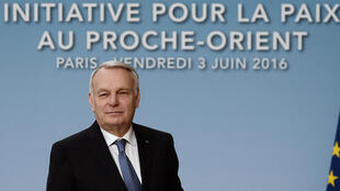 O ministro francês das Relações Exteriores, Jean-Marc Ayrault, na conferência