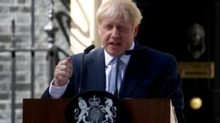 Tân thủ tướng Anh Boris Johnson đọc diễn văn tại phủ thủ tướng ngày 24/07/2019.