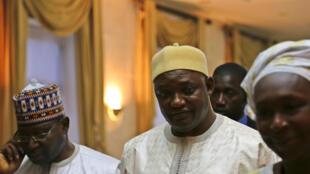 Rais Adama Barrow mjini Dakar, Januari 20, 2017.