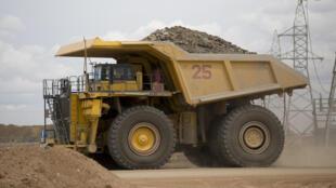 Extraction de cuivre en cours à la mine d'Oyu Tolgoi, en Mongolie.