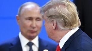 ولادیمیر پوتین رئیس جمهوری روسیه و دونالد ترامپ رئیس جمهوری ایالات متحده آمریکا