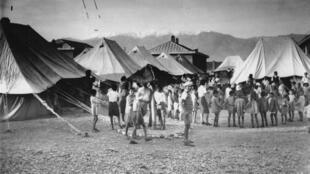 چادر پناهجویان یهودی در تهران ۱۹۴۲