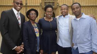 2016 Caine Prize shortlistees (l-r) Tope Folarin, Lidudumalingani, Lesley Nneka Arimah, Bongani Kona, Abdul Adan