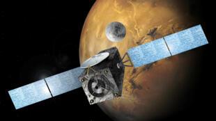 Une image du module Sciaparelli fournie par l'Agence spatiale européenne.