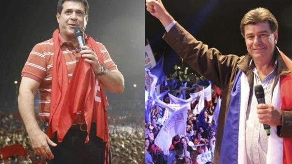 Horacio Cartes e Efraín Alegre.