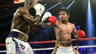 Boxing superstar Manny Pacquiao overcame Tim Bradley in Last Vegas on 9 April.