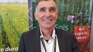 François Mandin, agriculteur à Luçon, en Vendée, nouveau président de l'Association pour la Promotion d'une Agriculture Durable (APAD).