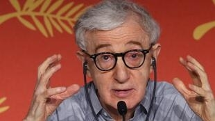 "Director Woody Allen gestures as he attends a news conference for the film ""Cafe Society"" out of competition, before the opening of the 69th Cannes Film Festival in Cannes, France, May 11, 2016."