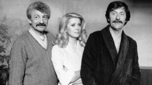 Yves Robert, Catherine Deneuve And Jean Rochefort On The Shooting Of Courage Let'S Run In 1979.