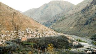 Le village d'Imlil, dans les montagnes d'Atlas et connu pour les randonneurs, là où Maren Ueland et Louisa Vesterager Jespersen ont été trouvées. Ici, le 20 décembre 2018.