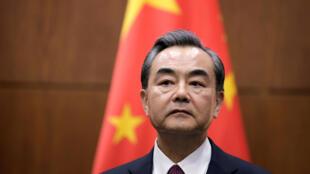图为中国外长王毅 王毅批评台湾搞小动作