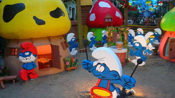 The Smurfs were created by Belgian artist Peyo