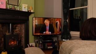 Watching Boris Johnson's address to the nation, UK March 23