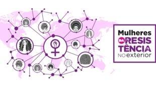 Ilustração do grupo Mulheres da Resistência no Exterior no Facebook.