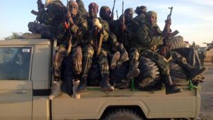Des soldats tchadiens, à la frontière entre le Nigeria et le Cameroun, le 21 janvier 2015, pour combattre Boko Haram.