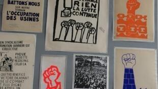 Exposição sobre Maio de 68 na Escola de Belas Artes em Paris.