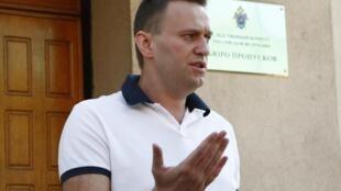 Алексей Навальный у здания СК РФ 31/07/2012