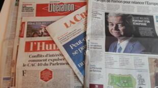 Primeiras páginas dos jornais franceses de 9 de março de 2017