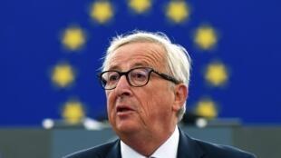 Jean-Claude Juncker au Parlement européen à Strasbourg, le 12 septembre 2018.