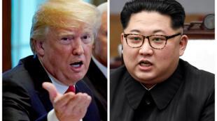 Tổng thống Mỹ Donald Trump (T) và lãnh đạo Bắc Triều Tiên Kim Jong Un sẽ gặp nhau tại thượng đỉnh Singapore ngày 12/06/2018.