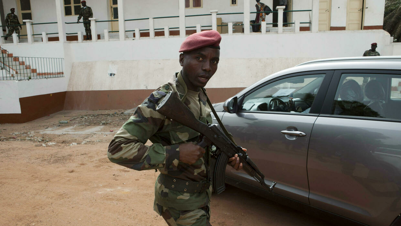 Un militaire à Bissau. (Image d'archive)