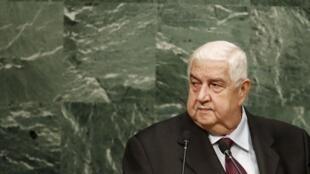 Walid Mouallem, chefe da diplomacia síria.