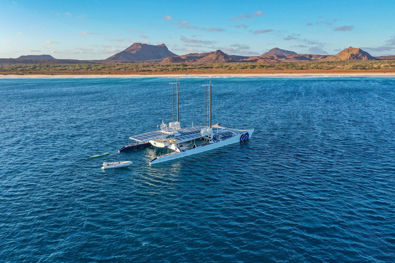 Energy Observer's voyage took it past Cape Verde.