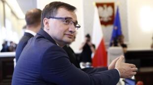 Bộ trưởng Tư Pháp Ba Lan, Zbigniew Ziobro tại Vacxava. Ảnh ngày 25/07/2017.