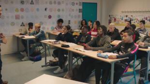 Image tirée du film «La vie scolaire», de Grand Corps Malade et Medhi Idir avec Soufiane Guerrab.