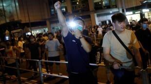 Người biểu tình ở trạm tầu điện ngầm Po Lam, Hồng Kông, ngày 05/09/2019.