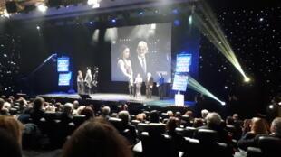 La ceremonia de los premios Lumières en París.