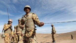Des militaires iraniens en manœuvre à Torbat-e-Jam, le 17 novembre 2015 (Illustration).