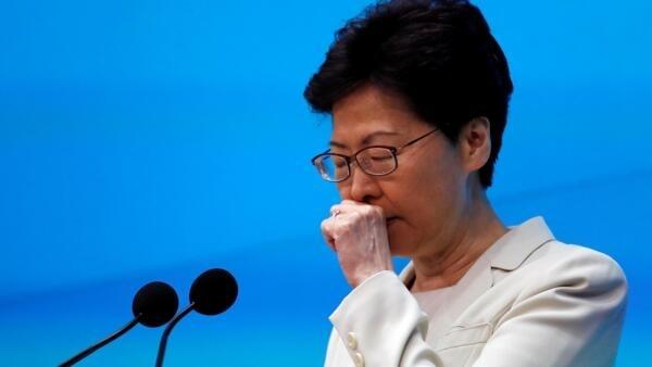 香港特首林鄭月娥舉行新聞發布會 2019年6月18日