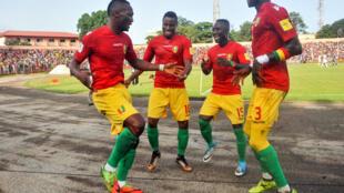 L'équipe de Guinée en août 2017.