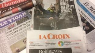 Primeiras páginas dos jornais franceses de 04 de dezembro de 2018