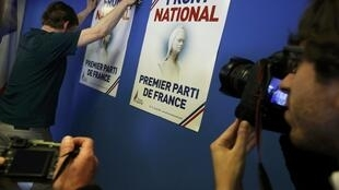 Front National, first party in France, reads the poster