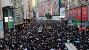Biểu tình ở Hồng Kông, ngày 08/12/2019.