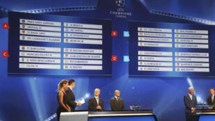 O sorteio da Liga dos Campeões 2016/2017.
