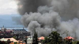 Philippines : Chiến sự tại thành phố Marawi. Ảnh 27/05/2017.