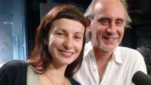 Marcelo Guardiola y Giorgia Marchiori en los estudios de RFI