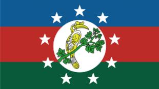 Le drapeau de l'État Chin, en Birmanie