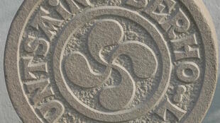 Basque lettering on a funerary stela