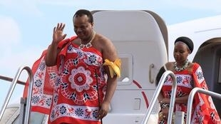 King of Swaziland Mswati III and his wife