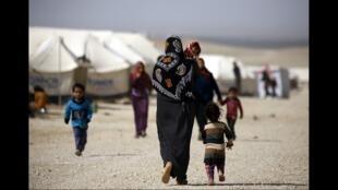 Campo de refugiados de Al-Hol, no nordeste da Síria.