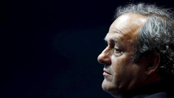 Michel Platini during the draw ceremony for the 2014-2015 Champions League competition, Monaco, August 2014.