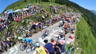 El paso de Aspin en los Pirineos.
