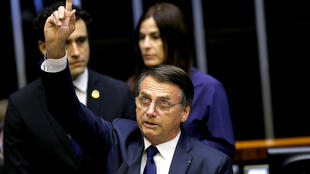 Bolsonaro durante discurso após posse