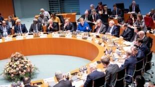 Toàn cảnh hội nghị thượng đỉnh về Libya tại Berlin, Đức, ngày 19/01/2020